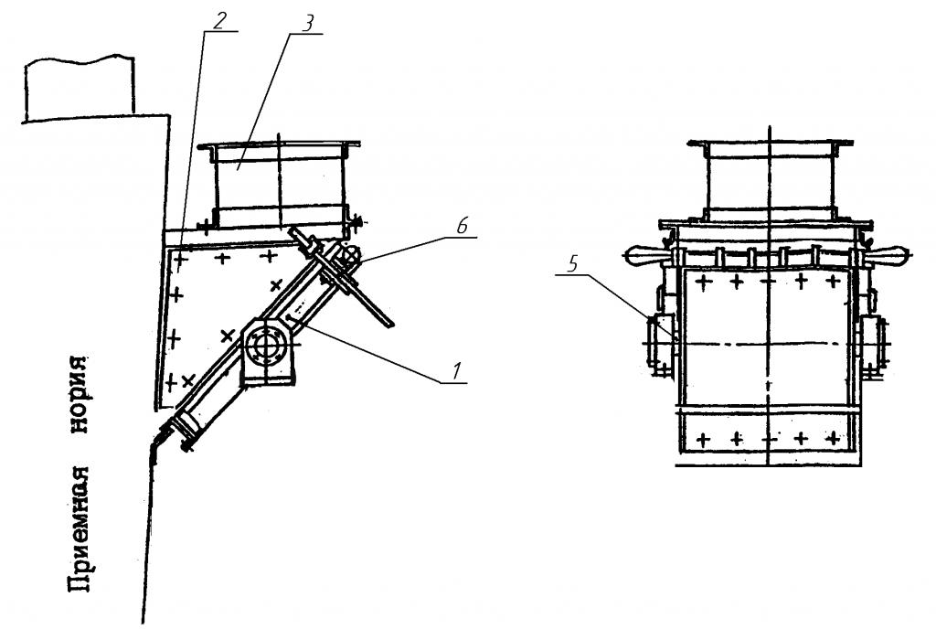 Чертеж сепаратора магнитного СМПН (без стоек)