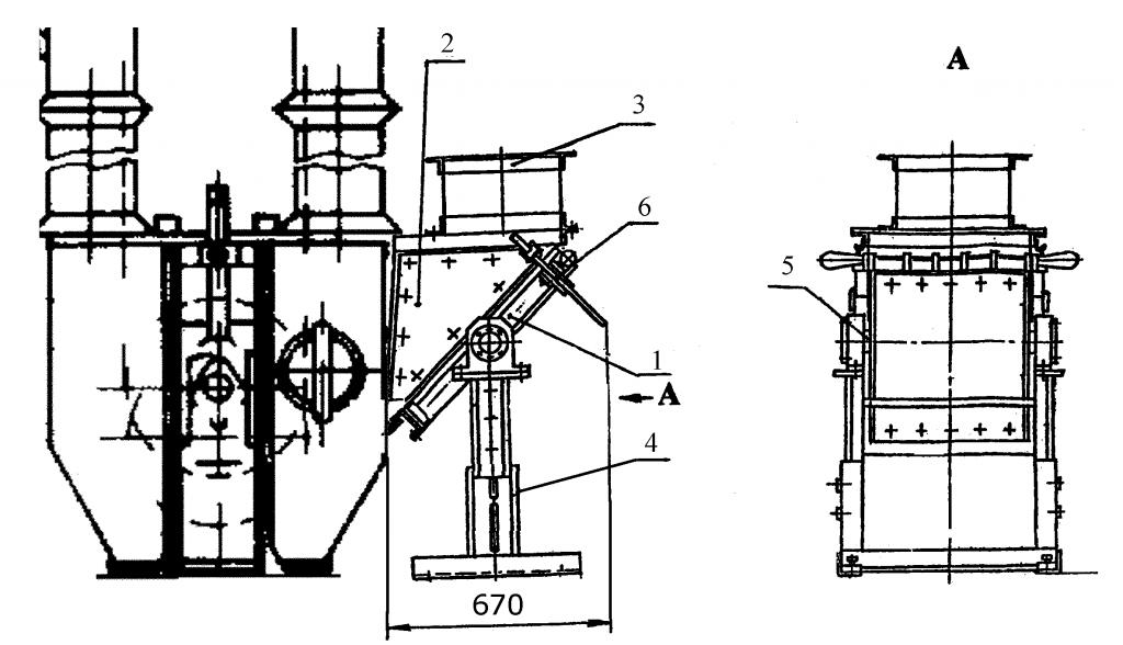 Монтаж сепаратора СМПН перед норией (взамен носка нории)